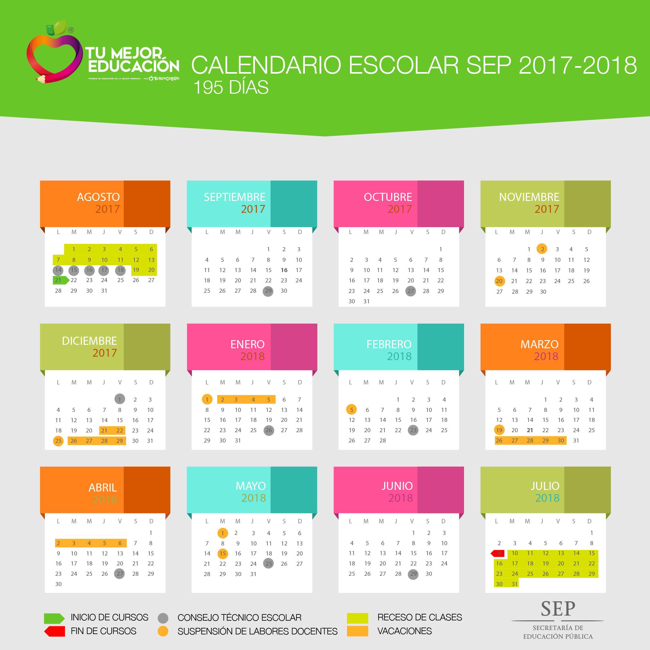 Calendario Oficial SEP 2017-2018