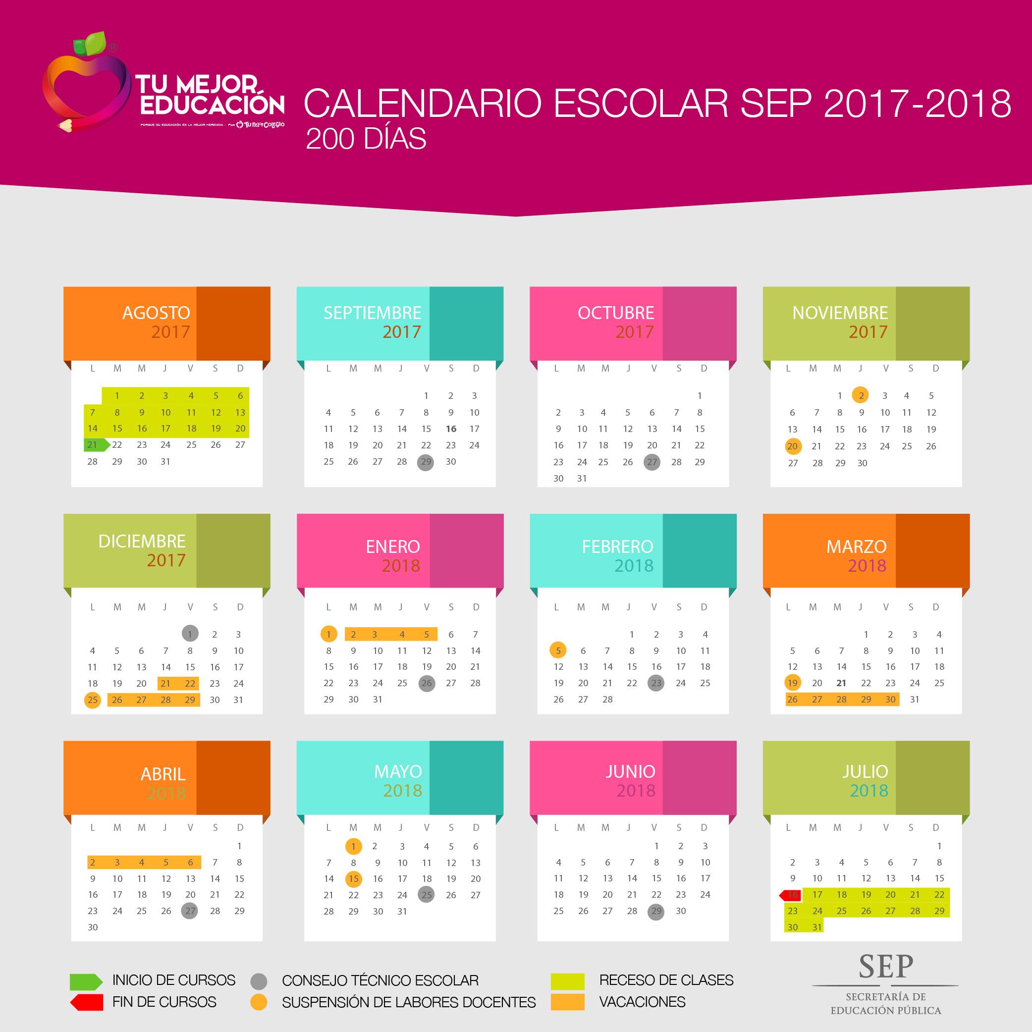 Calendario oficial 2017-2018